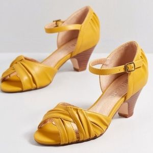 ModCloth yellow shoes